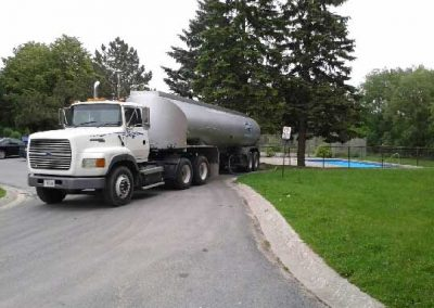Clearwater delivery trucks - Filling pools