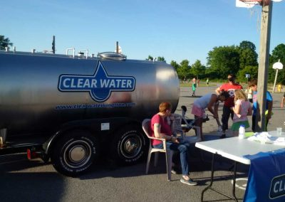 Clearwater in action - Special Event Tank Rentals