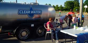 delivering water to special events
